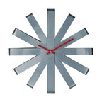 LexMod - Ribbon Stainless Steel Wall Clock - Bring time to your modern kitchen with the Ribbon clock. With a sleek stainless steel design that attracts attention, guests will wonder whether you purchased this clock to compliment your stainless steel appliances, or whether your appliances compliment this clock.