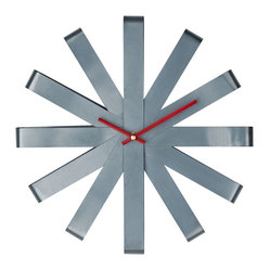 Ribbon Stainless Steel Wall Clock