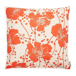 Kate Spade Spotted Floral Cushion Cover - This gorgeous Florence Broadhurst print has stood the test of time, and its lovely orange hue has never been more in style than right now.