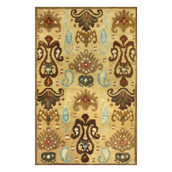 Kas Rugs - Kas Tapestry 6812 Gold 5' x 8' Area Rugs - Kas Tapestry 6812 Gold 5' x 8' Area Rugs