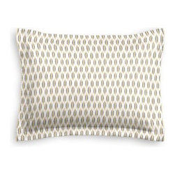 Gray & Yellow Ikat Dot Custom Sham - The Simple Sham may be basic, but it won't be boring!  Layer these luxurious reversible shams in various styles for a bed you'll want to fall right into. We love it in this ikat dot in gray and gold on the softest white cotton sateen. As cute as it is contemporary.