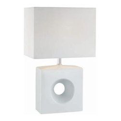 Illumine - White Bed Side Lamps: 1-Light 17 in. White Table Lamp with Fabric Shade CLI-LS-2 - Shop for Lighting & Fans at The Home Depot. The Designer Collection supplied by Commercial Lighting Industries is both modern and stylish, all while maintaining the ability to fuse together many different genres. This collection finds itself at home in many of today s popular design schemes. Whether you re looking for lamps, wall-lighting, pendants, or novelty lamps, the Designer Collection offers a lighting solution that is sure to satisfy any of your lighting needs.