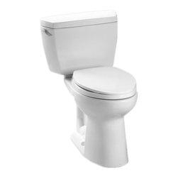 TOTO - Toto Eco Drake Two Piece Elongated Toilet, Cotton White (CST744EL#01) - TOTO Eco Drake Two Piece Elongated Toilet, Cotton White (CST744EL#01)
