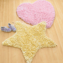 Heart Shaped Rug - Warm up cold floors with this plush Heart Shaped Rug. Woven from cotton, the rug features a non-slip rubberized backing, making it safe in kids' rooms that have hardwood floors.