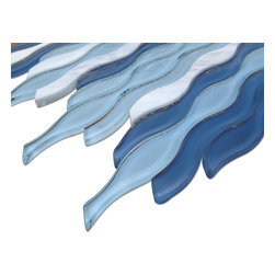 Sample Allure Waterscape Glass And Marble Tile - sample-Allure Waterscape Glass and Marble Tile Sample SAMPLE Samples are intended for color comparison purposes, not installation purposes. -Glass Tiles -