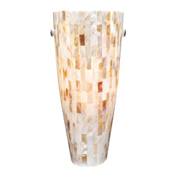 Vaxcel - Vaxcel Milano Wall Sconce Mosaic Shell Glass - Milano Wall Sconce Mosaic Shell Glass