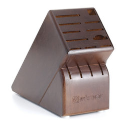 Wusthof - Wusthof 15-Slot Walnut Block - The handy knife block provides protection for your blades as well as a visual compliment to your kitchen decor.