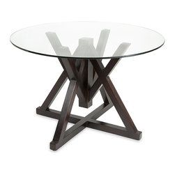 IMAX CORPORATION - Baina Wood and Glass Dining Table - Baina Wood and Glass Dining Table. Find home furnishings, decor, and accessories from Posh Urban Furnishings. Beautiful, stylish furniture and decor that will brighten your home instantly. Shop modern, traditional, vintage, and world designs.