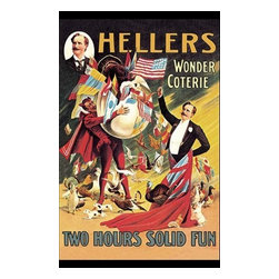 "Buyenlarge.com, Inc. - Heller's Wonder Coterie- Fine Art Giclee Print 16"" x 24"" - Another high quality vintage art reproduction by Buyenlarge. One of many rare and wonderful images brought forward in time. I hope they bring you pleasure each and every time you look at them."