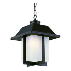 "Trans Globe Lighting - Trans Globe Lighting 40114 BK Pagoda Cap 12"" Outdoor Pendant - East meets West with this garden landscape and entry collection. Add all matching accent lighting for the whole home. Pair with ledge stone sided porch areas and homes for stunning ambience."