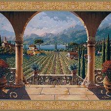 Mediterranean Artwork by Tapestry Art Designs