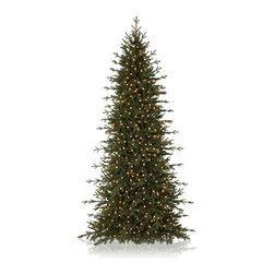 Balsam Hill Red Spruce Slim Artificial Christmas Tree - DELIGHT IN THE HANDSOME DESIGN OF BALSAM HILL'S RED SPRUCE SLIM CHRISTMAS TREE |