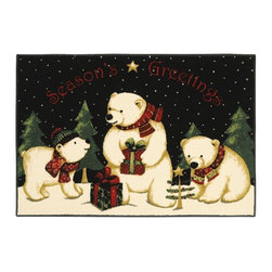 Novelty Holiday  Area Rug - The Holiday Collection area rug Collection offers an affordable assortment of Novelty stylings. Holiday Collection features a blend of natural Multi Color color. Machine Made of Nylon the Holiday Collection Collection is an intriguing compliment to any decor.
