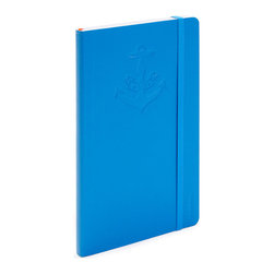 Anchor Dad Medium Notebook, Pool Blue - Every Dad could use some cool points.