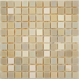 "Glass Tile Oasis - Dust White Honed-Sold by the Box 1"" x 1"" Cream/Beige Kitchen Polished Slate - Sheet size:  12 3/4"" x 12 3/4"".        Tile Size:  1"" x 1""         Tiles per sheet:  121        Tile thickness:  1/4""        Grout Joints:  1/8""        Sheet Mount:  Mesh Backed    Sold by the box - 10 sheets per box    -  Customize your hardest working surfaces with our Slate series. Choose from many patterns and an array of colors in honed and cleft finishes."