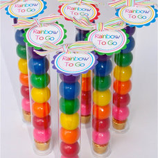 10 Rainbow To Go/Plastic Candy Tubes by BloomDesignsOnline on Etsy