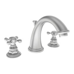"Newport Brass - Newport Brass 890 Double Handle Widespread Bathroom Faucet w/ Metal Cross - Double Handle Widespread Lavatory Faucet with Metal Cross Handles from the 890 Series FEATURES :  Widespread Lavatory Faucet 1/2"" Ceramic Disc Valves Solid Brass Construction WaterSense Certified Low Lead Compliant Includes Pop Up Assembly  SPECIFICATIONS :  Spout Height - 6.125"" Spout Reach 6.5""  8"" Centers  READYSHIP AVAILABLE FINISHES -  Manufacturer Guaranteed Finishes in Stock  Oil Rubbed Bronze Polished Nickel Satin Nickel Polished Chrome"