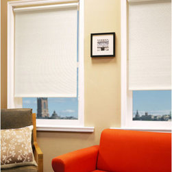 Chicology - Montana Rice 27x72 Roller Shade - - Bottom panel weights to keep in place - Sewn-in  - Drapery Fabric - 83% Paper + 17% Polyester  - Finished Width x Length - 27x72 Chicology - PR067127