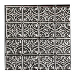 "CT-150 Ceiling Tile, Antique Silver, 24"" X 24"" - Made from UV stabilized .35 mm vinyl thermoplastic.These tiles may be used in a grid system. These tiles are easy to install, easy to clean, stain and water resistant, resource friendly and delivered direct to your door! Please note that there is no minimum order on our in stock ceiling skins, so you may order single tiles if you want to see what they look like before placing a larger order."