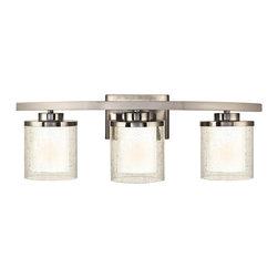 Dolan Designs 3953-09 Horizon 3 Light Bath Fixture in Satin Nickel Finish - Product Highlights