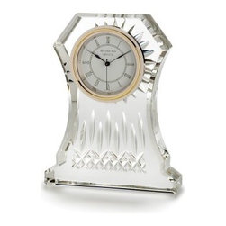 """Waterford Crystal - Waterford Crystal Lismore Clock 6.5"""" H 107753 - Waterford Lismore Clock 6.5"""" H  -  The Waterford Lismore pattern is a stunning combination of brilliance and clarity. Now your clock can be as sharp as your timekeeping. An elegant addition to any mantle or desk, the Lismore 6.5"""" Clock features an elegant cream clockface with Roman numerals and brass finish, set in a sweeping frame of fine, handcrafted crystal intricately detailed with Lismore's signature diamond and wedge cuts.  -  Don't Buy From An Unauthorized Dealer  -  Genuine Waterford Crystal  -  Fully Authorized U.S. Waterford Crystal Dealer  -  Brand New In The Original Waterford Crystal Box  -  Each Piece Is Checked 4 Times To Ensure It Arrives In Perfect Condition  -  Stamped With The Waterford Seahorse Symbol Of Excellence  -  Waterford Crystal Lismore Clocks Collection  -  Waterford Crystal UPC Number: 024258314634"""