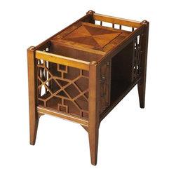 butler butler magazine basket olive ash burl this chinese chippendale inspired magazine. Black Bedroom Furniture Sets. Home Design Ideas