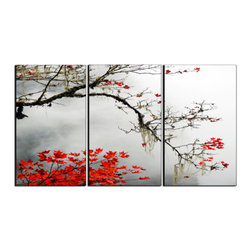Vibrant Canvas Prints - Canvas Prints, Framed Huge Canvas Print 5 Panel Spring Flower Nature - This is a beautiful, 100% quality cotton canvas print. This print is perfect for any home or office, and will make any room shine with its addition of color and beauty.  - Modern Home and Office Interior Decor   Leaves Canvas Designs - 3 Panel Print   Autumn Leaves Print on Canvas - Wall Art - 30 Day Money Back Guarantee.