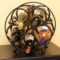 "Circle Man Wine Rack - Dimensions: 12"" w x 6"" d x 12"" h"