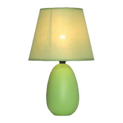 Simple Designs - Simple Designs Lamps 9.45 in. Green Oval Ceramic Table Lamp LT2009-GRN - Shop for Lighting & Ceiling Fans at The Home Depot. A lovely inexpensive and practical table lamp to meet your basic fashion lighting needs. This 9.5 in. tall lamp features a green ceramic base and matching fabric shade. Perfect for living room bedroom office kids room or college dorm.