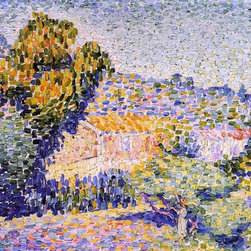 """Henri Edmond Cross The Pink House - 16"""" x 20"""" Premium Archival Print - 16"""" x 20"""" Henri Edmond Cross The Pink House premium archival print reproduced to meet museum quality standards. Our museum quality archival prints are produced using high-precision print technology for a more accurate reproduction printed on high quality, heavyweight matte presentation paper with fade-resistant, archival inks. Our progressive business model allows us to offer works of art to you at the best wholesale pricing, significantly less than art gallery prices, affordable to all. This line of artwork is produced with extra white border space (if you choose to have it framed, for your framer to work with to frame properly or utilize a larger mat and/or frame).  We present a comprehensive collection of exceptional art reproductions byHenri Edmond Cross."""