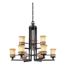 Troy Lighting - Transitional Nine Light 2 Tier Chandelier - Being a Leader in an Industry requires many attributes. Troy Lighting's passion for quality, design, value and service lead the way. Their Team of Lighting Professionals are serious about producing awesome lighting and having a strong, well-run company.