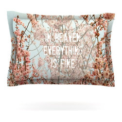 "Kess InHouse - Robin Dickinson ""In Heaven"" Cherry Blossom Pillow Sham (Cotton, 40"" x 20"") - Pairing your already chic duvet cover with playful pillow shams is the perfect way to tie your bedroom together. There are endless possibilities to feed your artistic palette with these imaginative pillow shams. It will looks so elegant you won't want ruin the masterpiece you have created when you go to bed. Not only are these pillow shams nice to look at they are also made from a high quality cotton blend. They are so soft that they will elevate your sleep up to level that is beyond Cloud 9. We always print our goods with the highest quality printing process in order to maintain the integrity of the art that you are adeptly displaying. This means that you won't have to worry about your art fading or your sham loosing it's freshness."