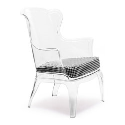 Zuo Modern - Zuo Modern Vision Cushion Houndstooth Pattern - Cushion Houndstooth Pattern belongs to Vision Collection by Zuo Modern This solid polycarbonate chair can be a modern statement piece indoors or outdoors. The fabric cushion is indoors only. Side Chair (1)