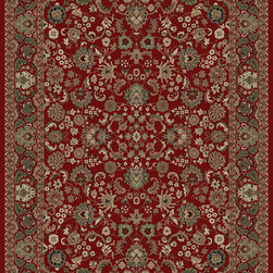 "Concord Global - Concord Global Persian Classics Mahal Red 2'7"" x 5' Rug (2100) - The majority of designs in this collection are replicas of antique Persian rugs. In this 1 million point per square meter quality the colors and fine denier yarn are purposely chosen to give the look of the original hand made old rugs. These classic Persian style rugs are so elegant that they would convert your rooms into most beautiful atmosphere instantly. Persian Classics collection has the world's most popular designs and offers the best quality-value combination"