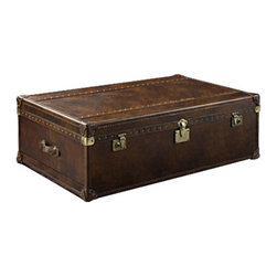 Curations Limited - Vintage Leather Luggage Style Trunk -