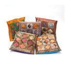Sitara Collections LLC - Handmade Patchwork Pillow Cushion Covers (Set of Five) - Diamonds are a girl's best decorating friend, thanks to these geometric, patchwork-inspired cushion covers. The set of five covers spotlights a rainbow of earth tones, from muted browns to cheery pumpkin. Group them for maximum impact, or use them one or two at a time for a more subtle statement.