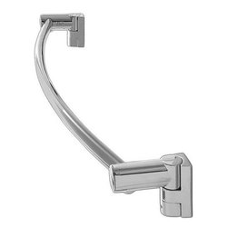 "WINGITS, LLC - Oval Towel Bar 18"" Satin Stainless Steel - Contemporary, sleek design with flowing curves made from structural stainless steel. Oval towel bar available in 18 In. And 24 In. - available in bright or satin finish. Matching bath accessories and Oval curved shower rod available."