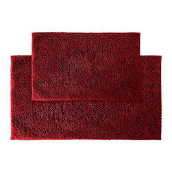 None - Grace Chili Pepper Red Cotton 2-piece Bath Rug Set - Add a gracious note of comfort to the bath or shower with the Grace Cotton collection of bath runners and rugs. The soft loop pile of these two red rugs is 100-percent cotton and the classic design blends with any decor.