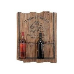 Tuscan French Country Wood And Iron Metal Wall-Mounted Wine Rack Wine Holder - Here's a nice way to display your wine bottles. I like the wood look and the words that are faded.