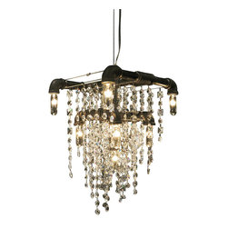 Michael McHale Designs - Tribeca Collection Grand Chandelier - This beautiful  chandelier is the Tribeca Collection version of the Bryce Collection Grand Chandelier, which keeps the overall look-and-feel of that classic piece, but with the scaled-down, sleek lines of the Tribeca Collection.