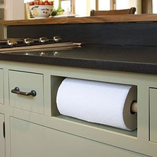 Remove fake drawer under sink and install paper towel ...