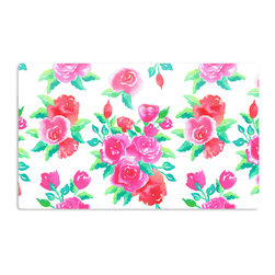 "Kess InHouse - Anneline Sophia ""Pink Roses"" Magenta Floral Aluminum Magnet - Decorate your fridge, locker or cubicle at work with small aesthetic pops of color. Made of a durable aluminum, these premium magnets are hand pressed and measure 3"" x 2"". Great for holding up to do lists, photos or coupons, these small pieces of art can make your fridge your own personal gallery."