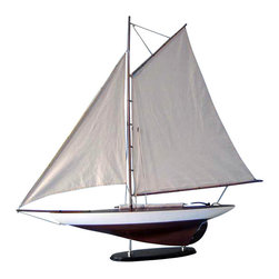 "Handcrafted Model Ships - America's Cup Contender 26"" - Wooden Sail Boat Model - Not a Model Ship Kit"
