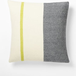 Faribault Wool Pillow Cover, Border Stripe