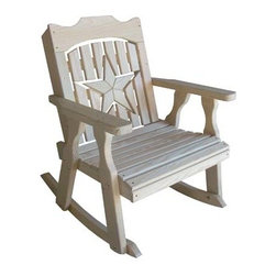 Fifthroom - Treated Pine Starback Rocker - Some say that there�s nothing better than a rocking chair.  We agree, but would like to add that a rocking chair finely crafted from Treated Pine with Galvanized hardware and rich cedar stain options� is simply fantastic!
