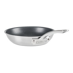 """Viking - Viking Professional 5-Ply 8"""" Non-Stick Fry Pan, Satin Finish - Viking Professional's 8"""" non-stick fry pan with 5-Ply construction maximizes heat transfer and heat distribution while reducing energy usage. The PFOA free, Eterna non-stick surface makes cooking eggs or omelets easy, requiring minimum amounts of cooking oils or fats while retaining the searing ability of a traditional fry pan. The extra large 12"""" surface helps cook larger quantities evenly and efficiently. The exterior layer is magnetic stainless steel that makes it suitable for induction stovetops. The next layer of aluminum alloy bonds to the middle layer, which is 3004 aluminum. The fourth layer is an aluminum alloy bonded to the interior 18/10 high-grade stainless steel. Together, these five layers work in unison to transfer heat quickly and evenly through the bottom and sides of the pan. The Viking-designed ergonomic handle takes stress off of the wrist, making cooking easier and enjoyable, while reducing heat transfer to keep the handle cool. The 5-ply construction is designed to be used in the oven the same way professional chefs use their cookware in a restaurant kitchen. Stove, oven, and grill friendly up to 600F degrees. HANDCRAFTED IN THE USA with a limited lifetime warranty."""