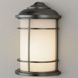 Murray Feiss Lighthouse Outdoor Wall Bracket Lantern - 11H in. Burnished Bronze - The Murray Feiss Lighthouse Outdoor Wall Bracket Lantern is ideal for your lakefront home. This light features a burnished bronze finish and opal etched-glass shades. For ample outdoor lighting use one 100-watt E bulb (not included). Clean the fixture with a damp cloth and mild soapy water and the shades with household glass cleaner. This light measures 7W x 11H x 4.5Ext inches.About Murray Feiss LightingThree generations have built Murray Feiss as a renowned name in lighting and it now stands as a leader with a reputation for impeccable craftsmanship innovative design and honest value. Murray Feiss prides itself as the foremost designer and manufacturer of interior and exterior lighting and home decor in the lighting industry. Over 3 800 skilled artists and technicians bring Murray Feiss designs to life meticulously finishing and quality-testing each exclusive product. Murray Feiss Lighting has expanded its extensive copyrighted line of products to include grand chandeliers casual fixtures vanity bath lights with coordinated bath hardware outdoor lighting lamps torchieres wall brackets mirrors and decorative accessories. Whether outdoor or in lighting from Murray Feiss means high quality and innovation.