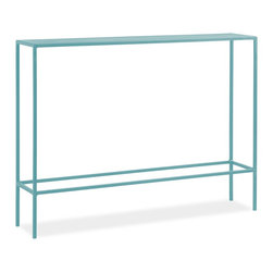 Slim Console Table, Ocean - I resolve to update my entryway with functional furniture. This slim console is perfect for small spaces that need a spot for you to drop your keys and mail.