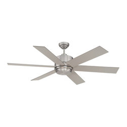 Savoy House - Savoy House 60-820-6SV Velocity 6 Blade Ceiling Fan - Features: