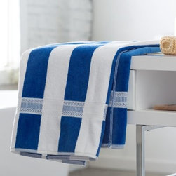 Joey Velour Stripe Bath/Beach Towel - Set of 2 - Take in the sun and the surf, or relax poolside with the Kaufman Sales Joey Velour Stripe Bath/Beach Towel - Set of 2. This set of two beach towels is made of a 100% cotton terrycloth fabric. Large enough for the beach and comfy enough for the show, these towels offer vibrant colors and outstanding absorbency.